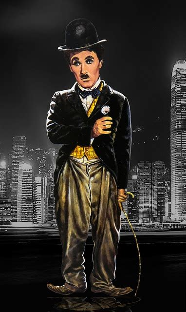 illustration chaplin charlie chaplin melon