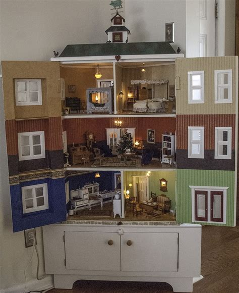 corner doll house corner cabinet dollhouse dollhouse pinterest
