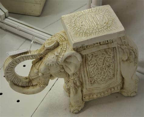 antique ceramic elephant table a flair for vintage decor what i found