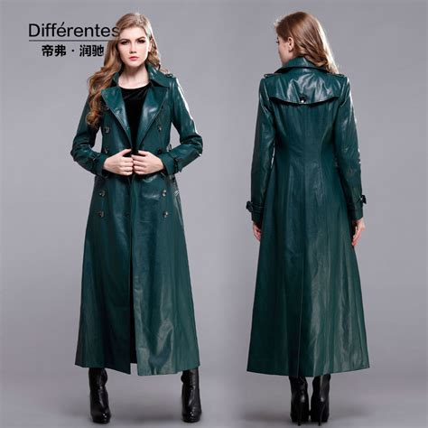 abrigos de cuero mujer abrigos cuero largos