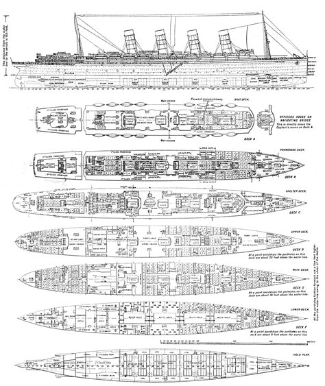 Starship Floor Plans by File Rms Lusitania Deck Plans Jpg Wikimedia Commons