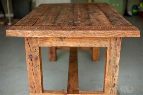 custom farm table reclaimed wood farm table