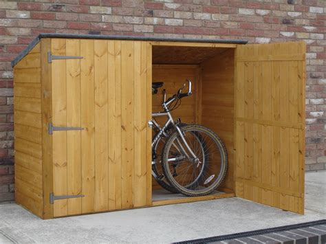 Wooden Bike Storage Shed by 6 X 2 Pent Wooden Bike Store