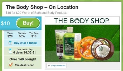 printable vouchers body shop orlando daily deals 20 the body shop voucher for only 10
