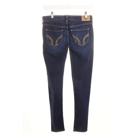 accessories hollister womens mens hollister skinny jeans dark blue casual look women s size
