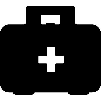 Kyt Cross White Black aid kit with black and white cross symbol on it