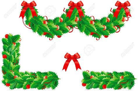 christmas greenry ornament border clipart   cliparts  images  clipground