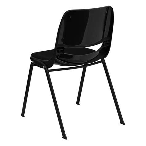 black padded stackable chairs hercules series 880 lb capacity black ergonomic shell