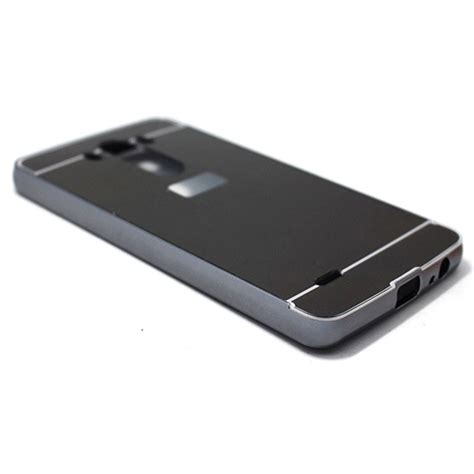 Aluminium Bumper With Mirror Back Cover For Lg G4 Hitam aluminium bumper with mirror back cover for lg g3 black jakartanotebook