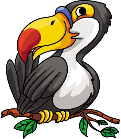cartoon hornbill bird on branch 1designshop