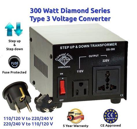 diamond series 300 watts step up down voltage converter