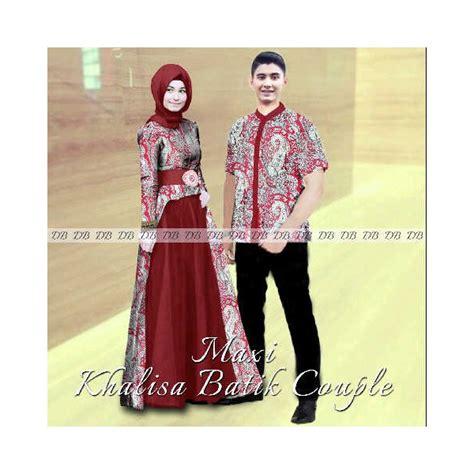 maxi khalisa batik gamis sarimbit modern 2015