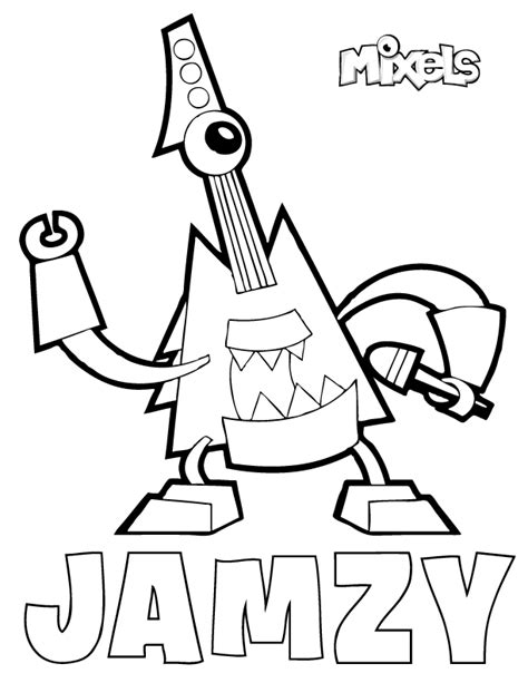 mixel electroids coloring coloring pages
