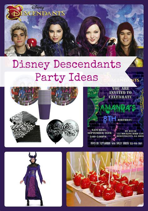 disney descendants party descendents birthday by disney descendants birthday party ideas and themed