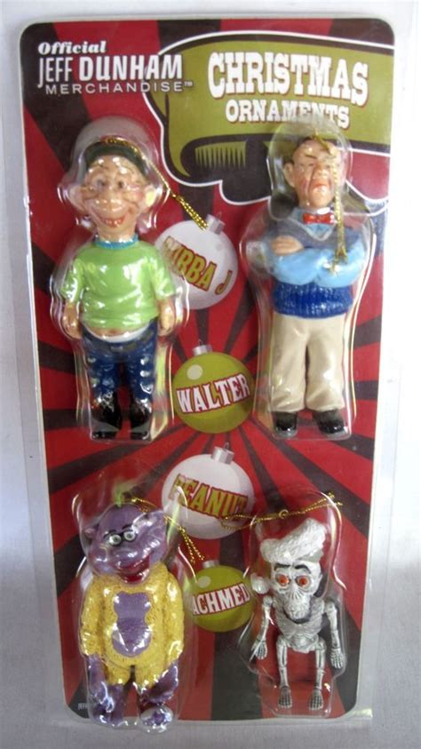 jeff dunham set of 4 christmas ornaments bubba walter