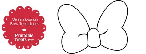 printable minnie mouse bow template printable treats com