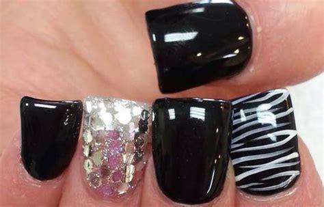 imagenes de uñas en negro con dorado u 241 as decoradas color negro u 241 asdecoradas club