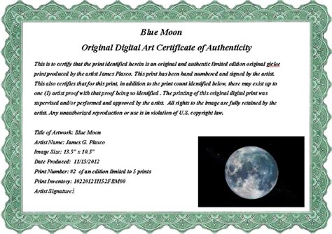 limited edition print certificate of authenticity template sle certificate of authenticity