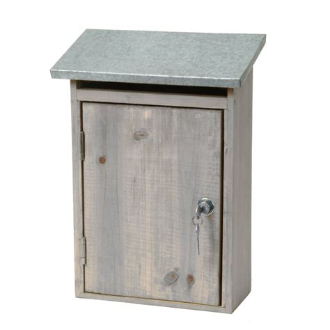 Wall Mounted Garden Garden Trading Outdoor Wall Mounted Wooden Post Box With