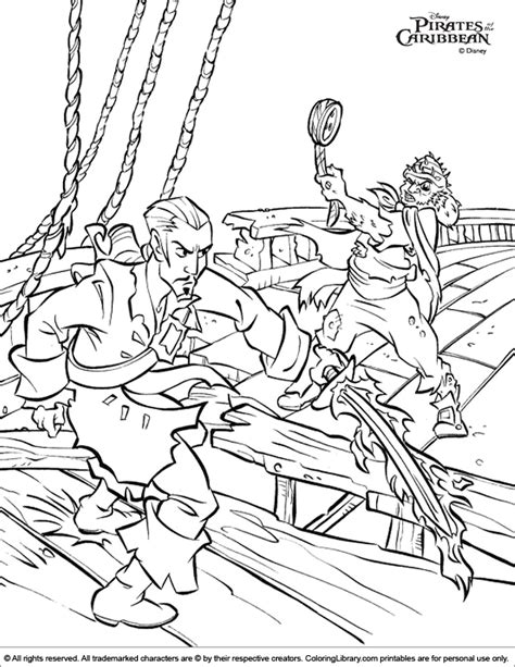 Pirates Of The Caribbean Coloring Picture Coloring Pages Of The Caribbean Coloring Home