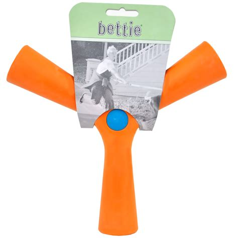 fetch toys bettie fetch slobber and spice orange large
