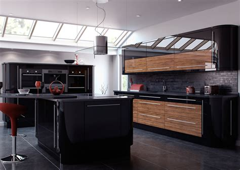 black gloss kitchen cabinets gloss kitchens archives page 2 of 3 kitchenfindr