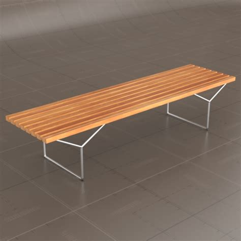 bertoia bench knoll bertoia bench 3d model formfonts 3d models textures