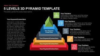 5 levels 3d pyramid powerpoint keynote slidebazaar