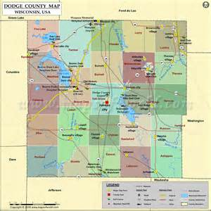 dodge county map wisconsin
