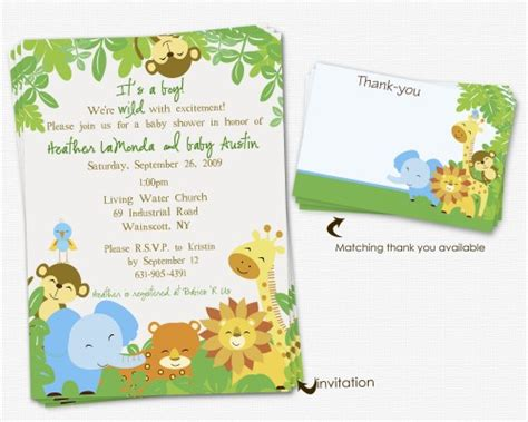 Safari Baby Shower Invitations by Printable Safari Baby Shower Invitations Elizatate