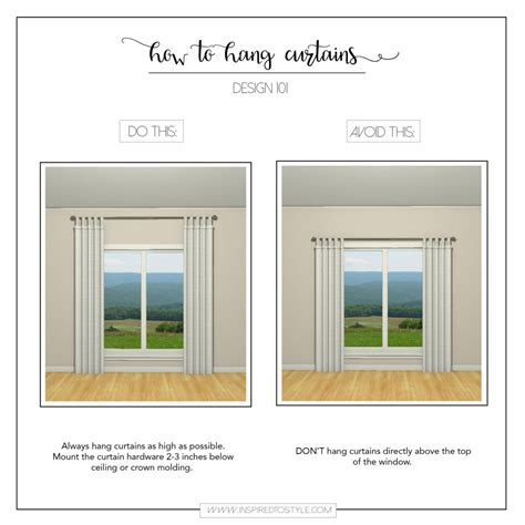how low should curtains hang how high to hang curtains home design ideas and pictures