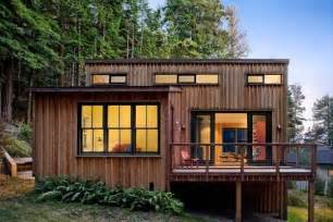 Modern Cabin Plans 840 Sq Ft Modern And Rustic Small Cabin In The Redwoods