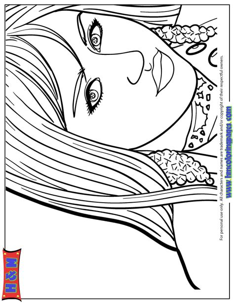 Beautiful Girl Hannah Montana Coloring Page H M Stunning Coloring Images