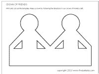 Friendship Color In Card Templates by Crown Of Friends Printable Templates Coloring Pages