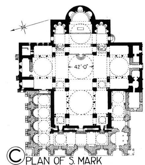 cross floor plan floor plan of st the basilica is in the shape of a cross and covered with domes