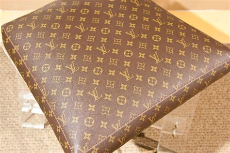 louis vuitton signature fabric covered lucite chair at 1stdibs