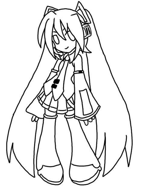 imagenes de hatsune miku kawaii para colorear dibujos hatsune miku para colorear imagui
