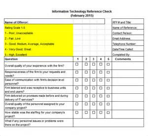 employee reference check template sle reference check template 14 free documents in