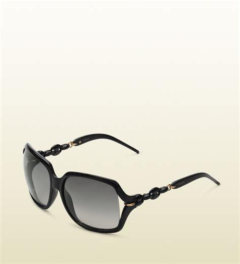 Sunglasses Gucci Original 1 gucci womens modern square shaped sunglasses in black lyst