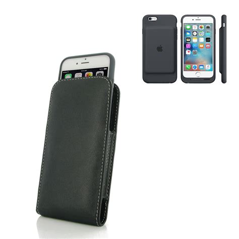 iphone 6 6s in official smart battery leather sleeve pouch