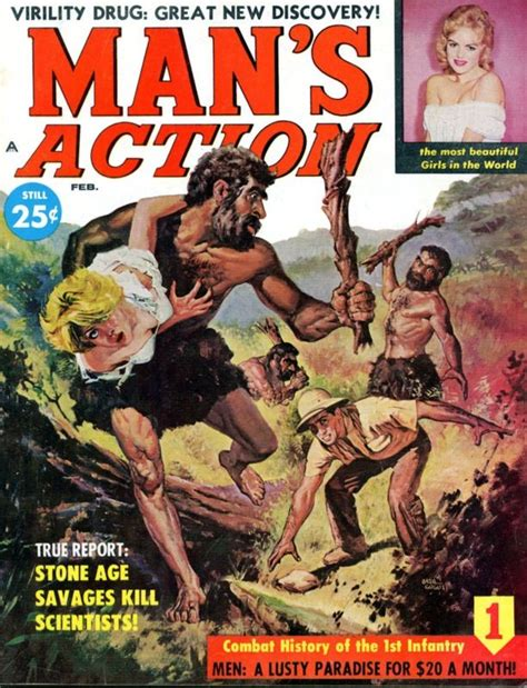 library releases a million domain images boing boing s feb 1960 cover by basil gogos 8x6 artwork from 50s 60s adventure s pulp