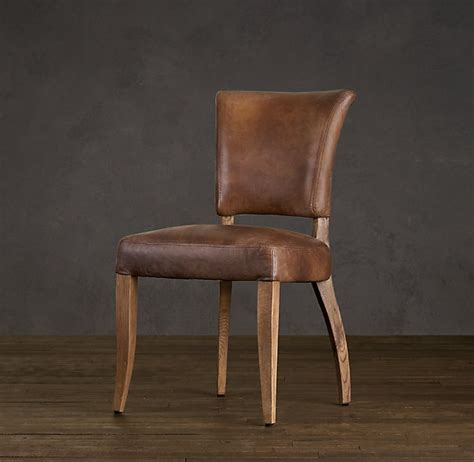 ad 233 le leather dining chair rustic contemporary family room pinter