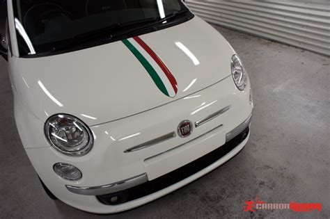fiat 500 abarth vinyl stripes carbon sydney