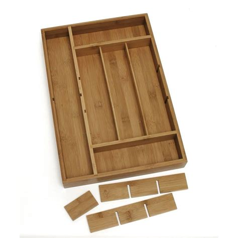 Bamboo Drawer Dividers by Lipper International 2 In X 12 In X 17 5 In Bamboo