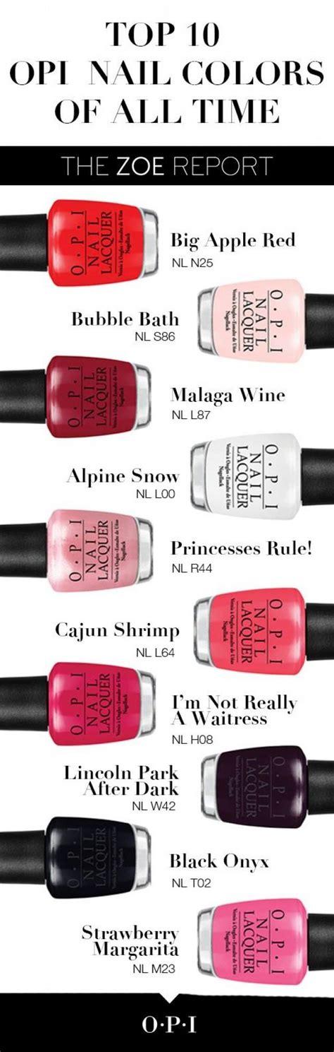 top nail colors nail the top 10 opi nail colors of all time 2783236