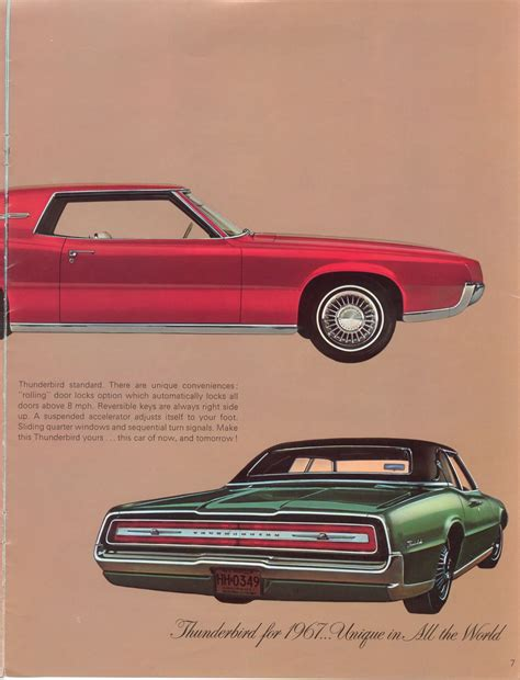 old car manuals online 2003 ford thunderbird head up display car brochures 1967 ford thunderbird page06 jpg