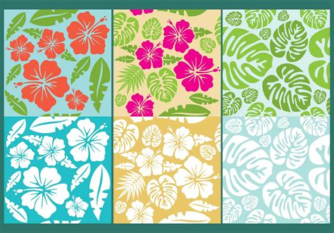 pattern flowers vector hawaiian flowers pattern vectors download free vector