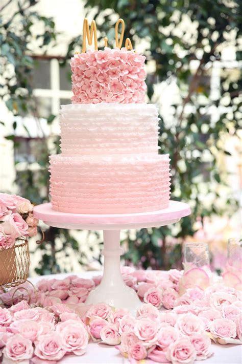 inspirational pink wedding cake ideas