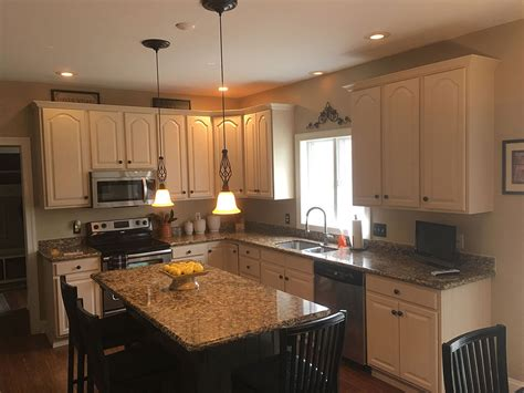 Buttercream Kitchen Cabinets Kitchen Cabinet Refinishing Painting Grande Finale