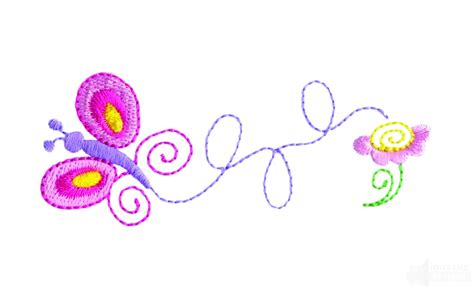 Bv4765ls Embroidery Flower And Butterfly butterfly and flower embroidery design